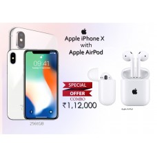 iPhone X 256GB Silver + Apple AirPod Combo Offer